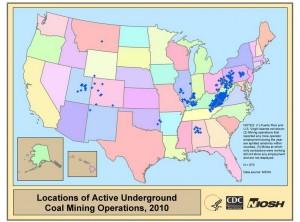 美國煤礦產地 地圖