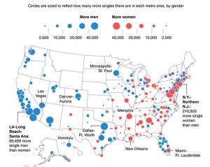 美國各州男女比例