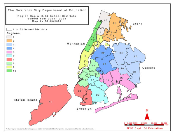 NYC school district map