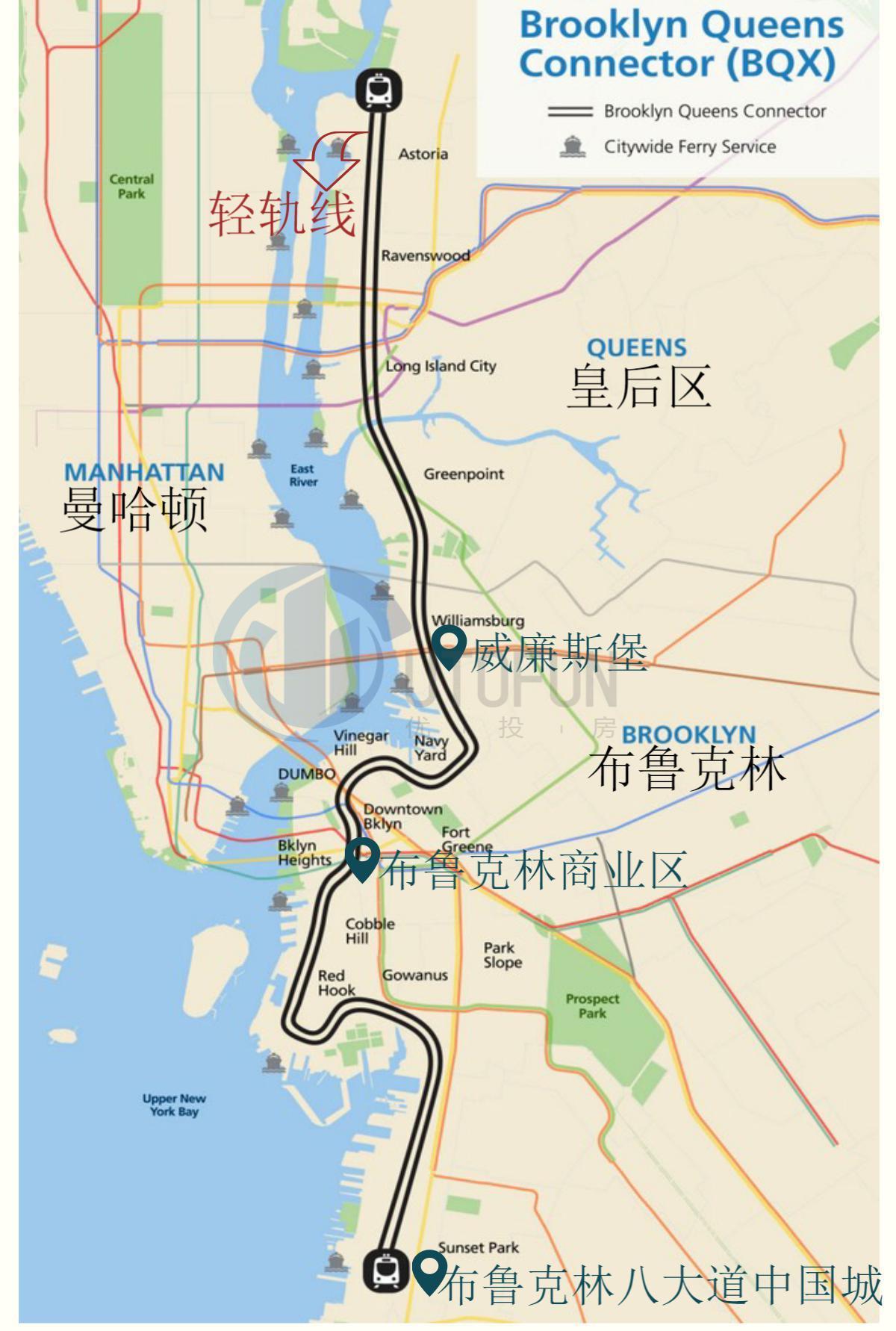 布鲁克林皇后区地图