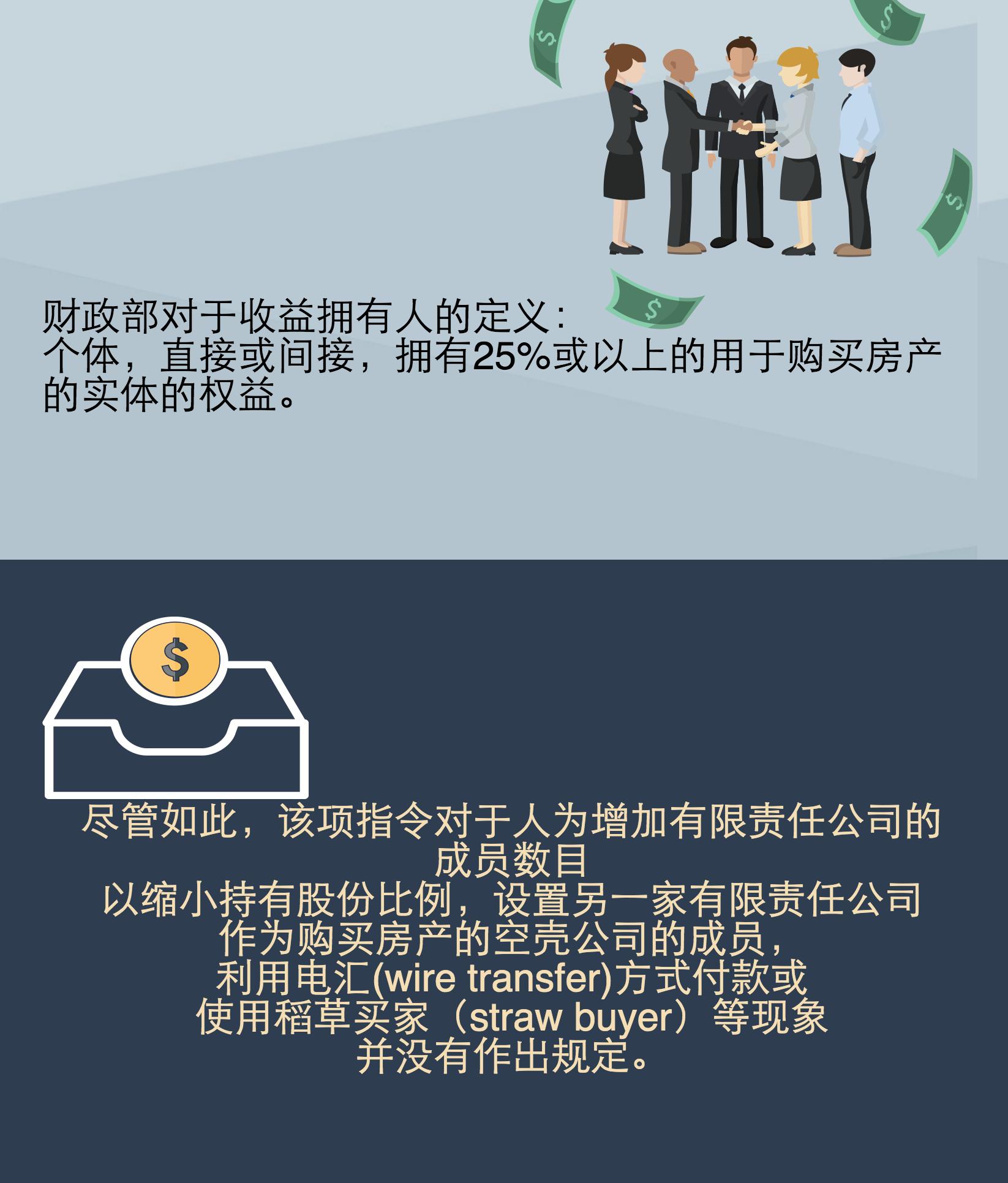 财政部对于收益拥有人的定义