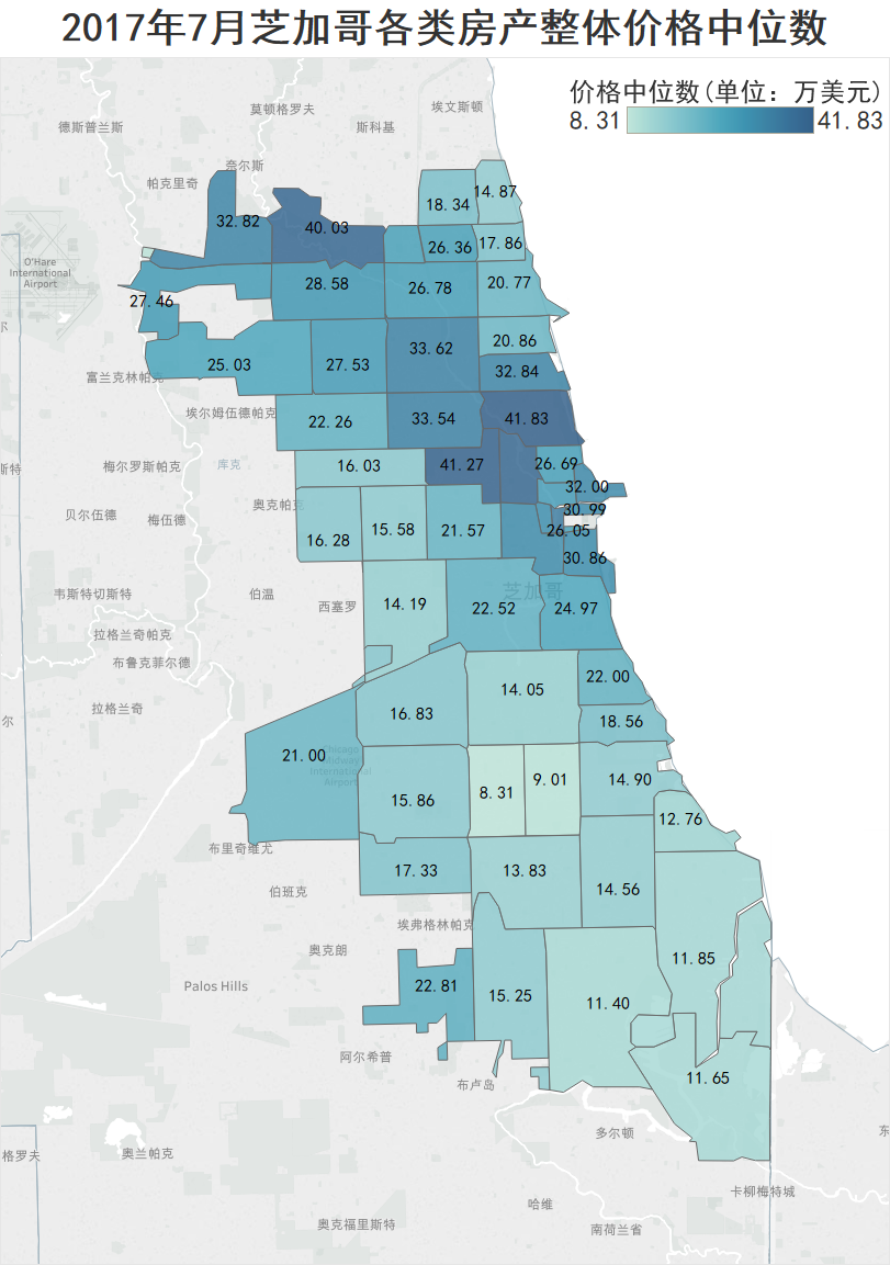 图解| 我的工资能在芝加哥买房吗 -不同职业类别的房屋购买力
