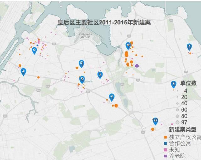 皇后区主要社区2011-2015新建案 2