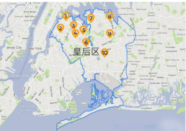 皇后区地图