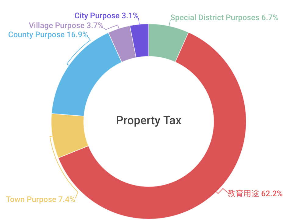 纽约2009年房产税去向