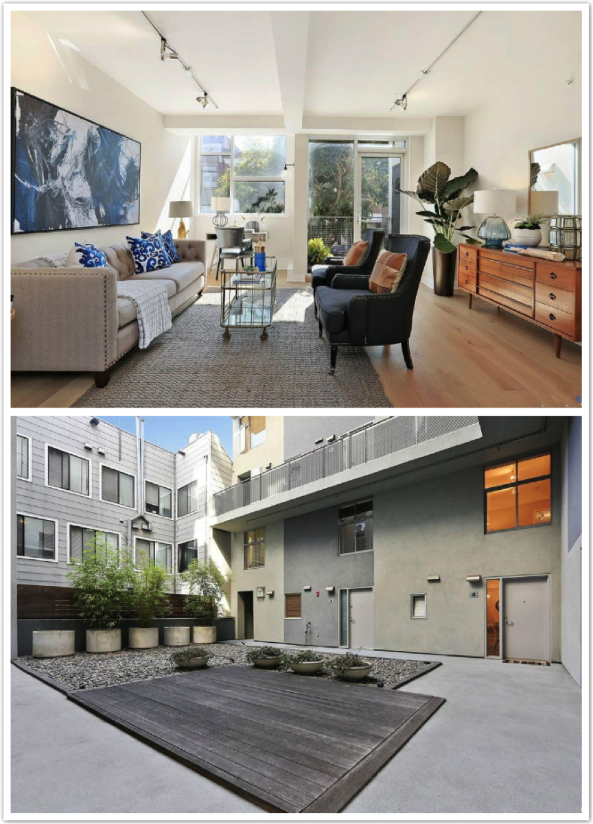 位于旧金山的一套2室2卫独立产权公寓,标价105万美元