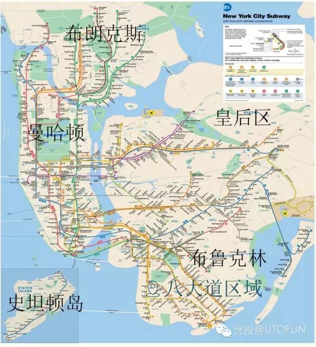 布鲁克林八大道地图