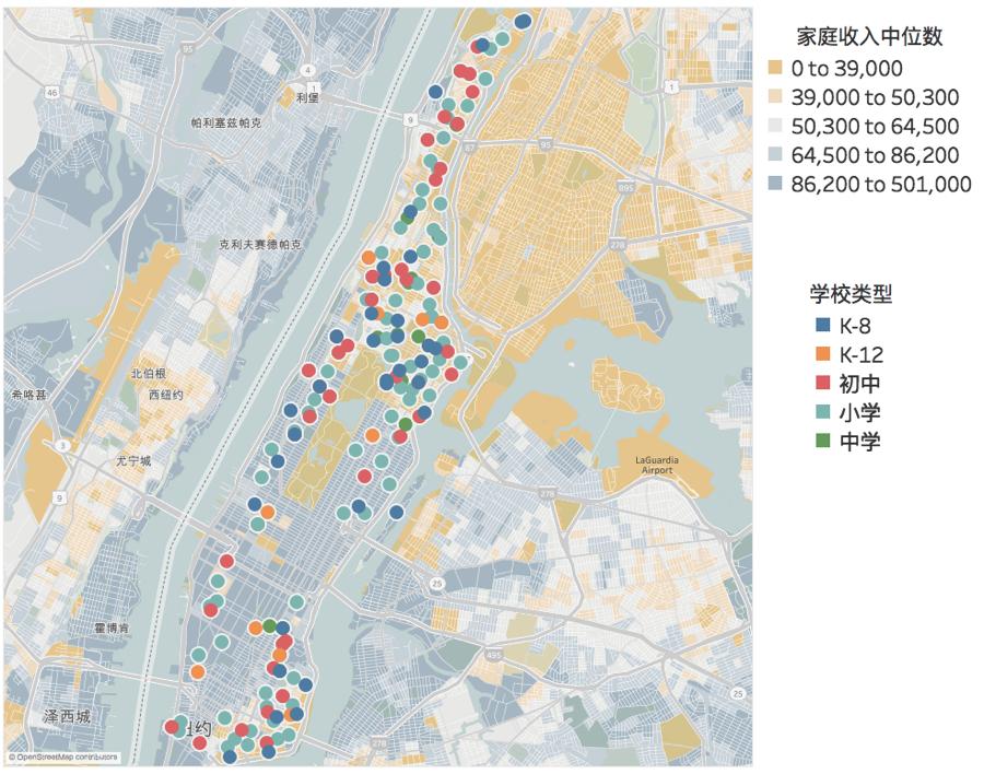 纽约 家庭收入中位数