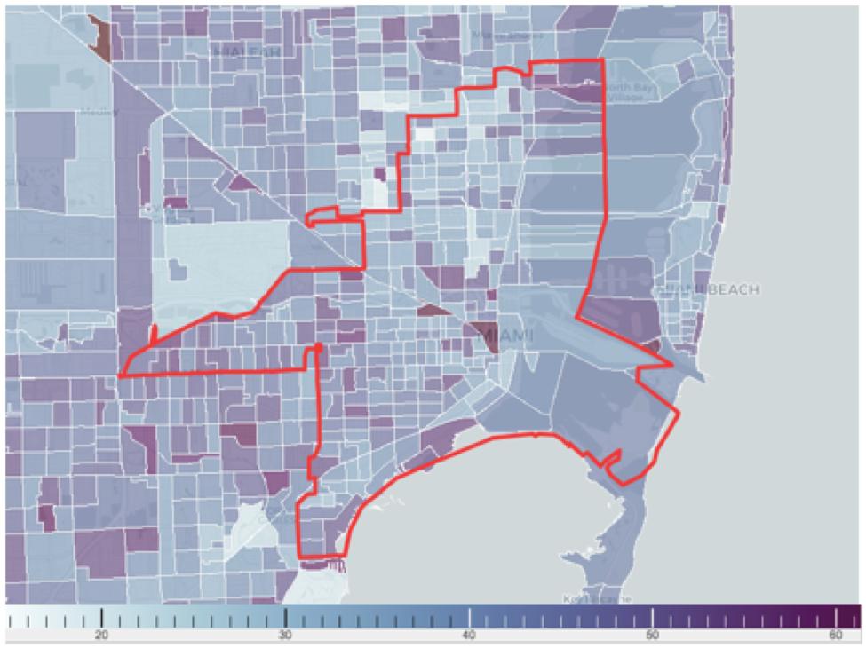 迈阿密常住居民年龄