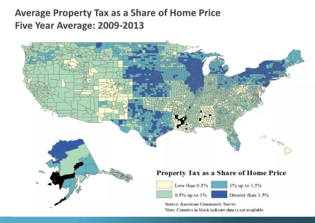 美国各州房产税率一样吗?