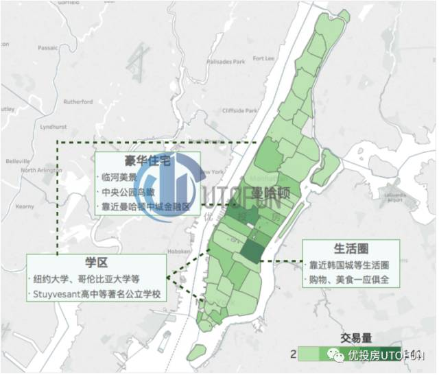 2015年纽约市华人房产交易量分布图