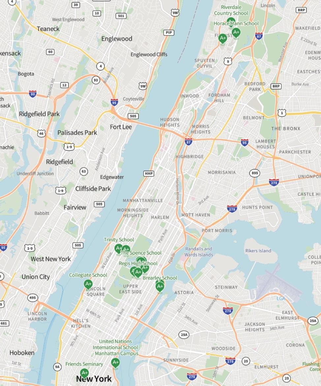 纽约市顶尖私立K-12学校