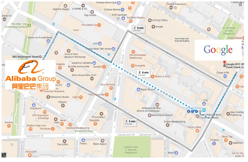 阿里巴巴谷歌地圖