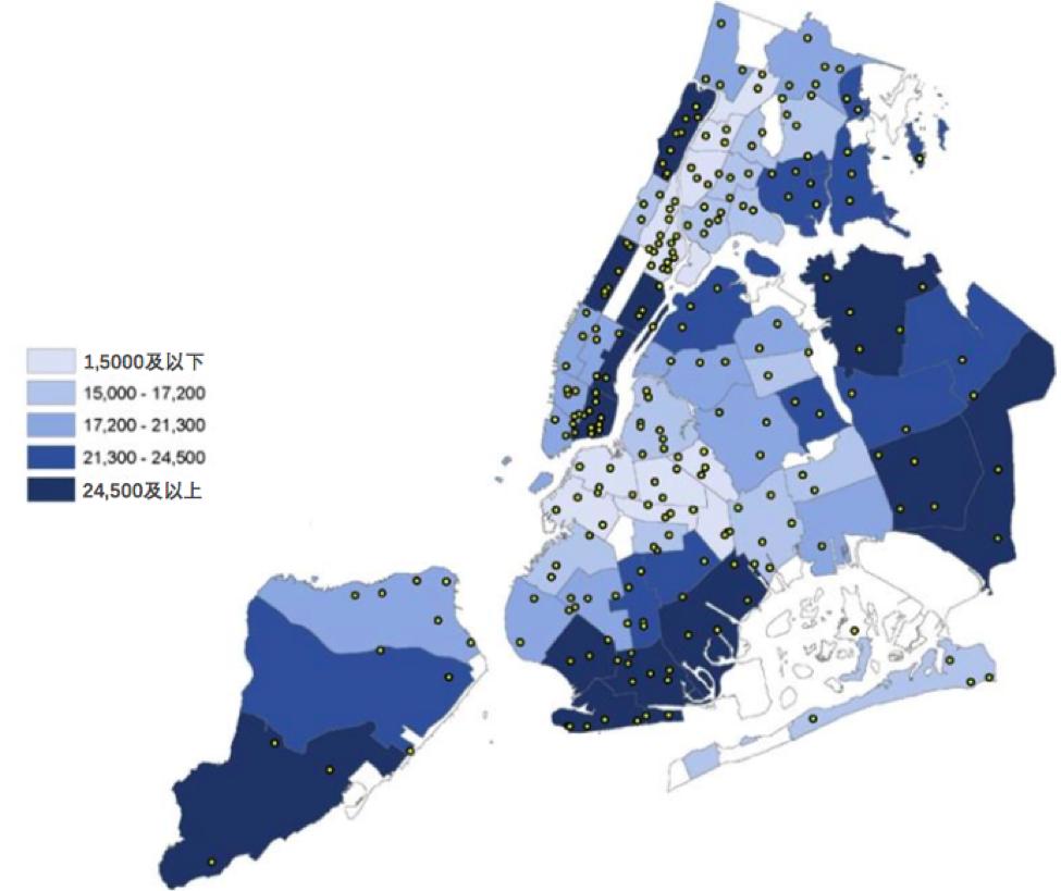 纽约市65岁以上人口分布