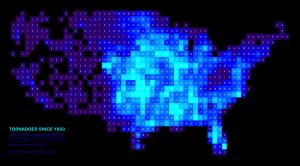 美國龍捲風分佈