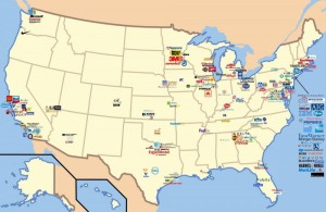 美國著名大公司總部